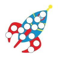 Przyklejanie kropek z plasteliny - zabawy sensoryczne