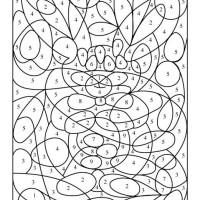 Kolorowanki z numerami - spostrzeganie figury i tła