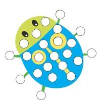 Wyklejanie kropek z plasteliny - ćwiczenia manualne