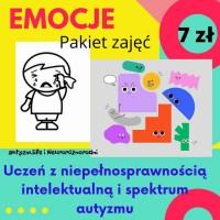 """Pakiet zajęć """"Emocje"""" dla uczniów z   niepełnosprawnością intelektualną i spektrum autyzmu - 7 zł"""